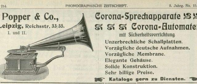 Corona-Sprechapparat